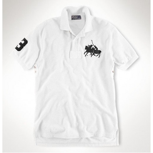 Camisa Polo Branca Ralph Lauren - Cod 0101
